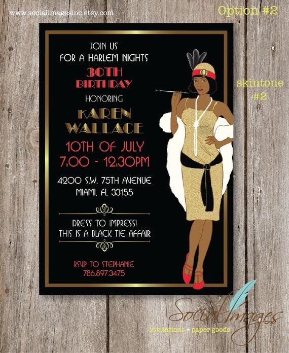 Harlem Nights Birthday Party Invitation By SocialImagesInc