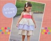 Addison's triple ruffle dress PDF Pattern size 6-12 months to size 8