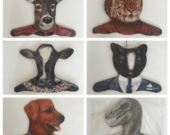 SUPER SALE! Annie Wood Animal Hangers
