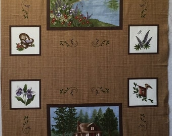Lady Slipper Lodge Fabric Panel - Moda - by Holly Taylor