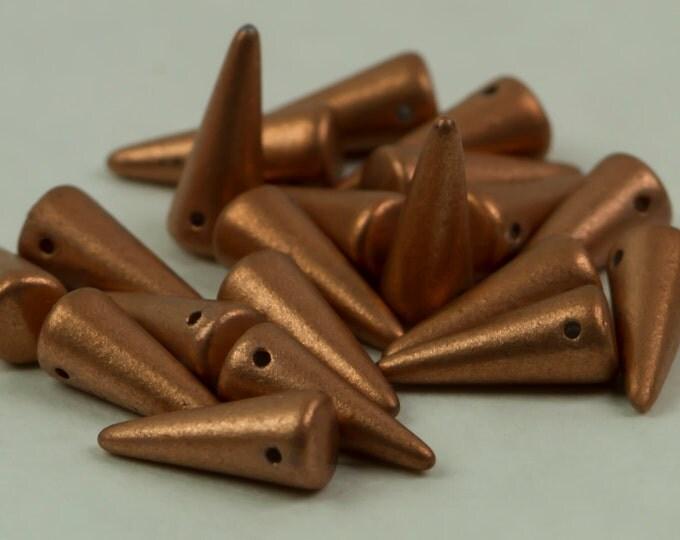 Beads Czech Glass Beads Spike Copper 20 piece C1286