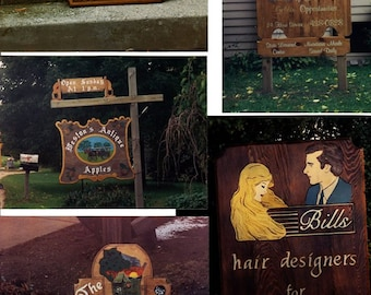 Some examples of wood signs