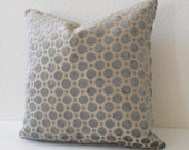 4TH of JULY SALE Velvet gray geometric decorative pillow cover