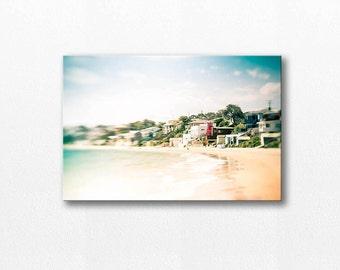 nautical decor beach canvas wrap ocean gallery wrap 12x18 24x36 fine art photography coastal canvas gallery wrap summer photography pastel