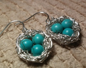 SALES EVENT Birds Nest Earrings Sterling Silver