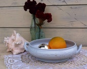 19th c. Ironstone China Bowl, Antique Victorian Meakin Serving Dish - Vintage White Decorative Bowls, Wedding Decor, Holiday Centerpiece Art