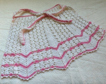 Adorable Vintage Child's Crocheted Apron