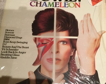 David Bowie Chameleon on Starcall records Australian pressing compilation lp 1972 -1979 number one New Zeland