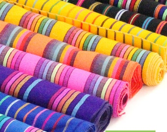 "Bohemian Chic Table Runner - Boho Rainbow Runners -  Sarape Colorful Striped Table Runner - Mexican Table Runner - 14"" x 108"""