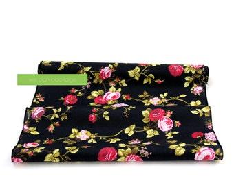 "SALES! Black Vintage Floral Table Runner by We Can Package - 18"" x 108"""