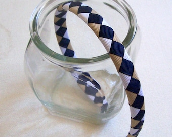 School Uniform Woven Ribbon Wrapped Headband
