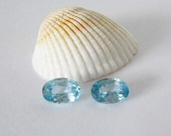 Natural Blue Zircon  Pair 2.10cttw