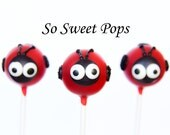 So Sweet Pops Happily Made Ladybug Inspired Cake Pops