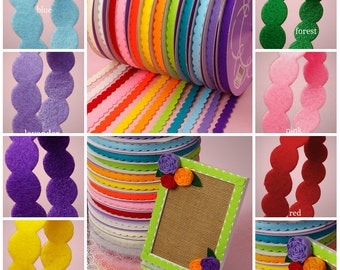 Circles Felt Trim 5/8 inch wide select color/price for 2 yard