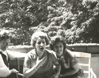 Surprise! - Vintage Photo - Surprised Woman - Vintage Snapshot - Girlfriends - Sisters - Found Original Photo