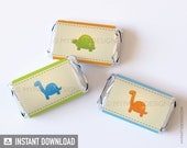 Dinosaur Party - Mini Chocolate Wrappers - Dino Party - INSTANT DOWNLOAD - Printable PDF