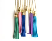 Tassel Necklaces Bright Colors