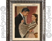 CIJ Scarlett and Rhett 2 Gone with the Wind on Vintage Upcycled Dictionary Art Print Book Art Print Recycled Repurposed