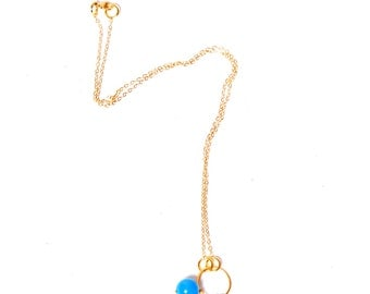 Bohemian Beaded 14ct Necklace