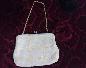 Bon soir vintage beaded Italian clutch purse retro