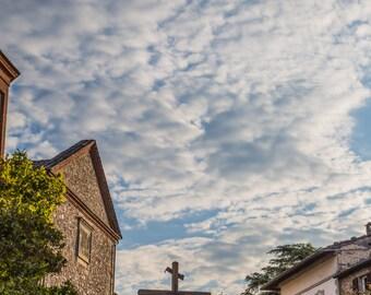 "Italy Photography, ""Cross in the Sky"", Travel Photography, Anghiari, Italy, Customizable Sizes"
