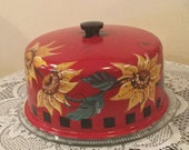 Sunflower Cake cover and Plate Reserved for CHERIE