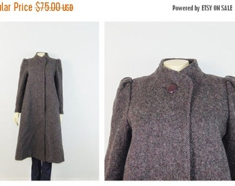 CLOTHING SALE Vintage Coat 60s Jill Jr Gray Tweed Coat 100% Wool 4 Buttons Excellent Condition Size Small to Medium