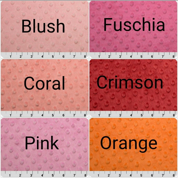 Minky Dot Changing Pad Cover - Gray, Coral, Navy, Red, Pink, Yellow, White, Crimson, Black,Tan