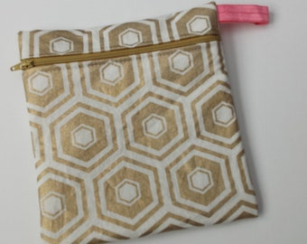 New Hot Print Wet bag: Gold Honeycomb Geometric print