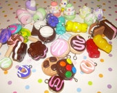 Polymer Clay Food Charms - 25 Cute Charms