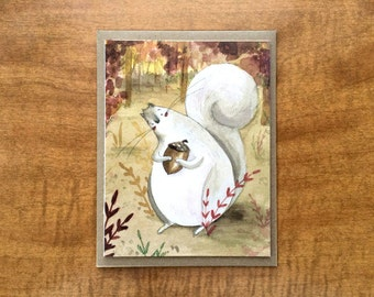Squirrel's Acorn Greeting Card