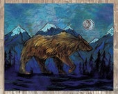 The Sleepwalker \ Night Bear 8x10 Archival Print