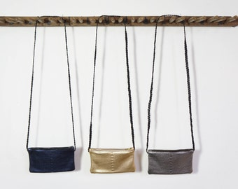 Mini Zip Bag - Sapphire/Platinum/Gun Metal - SALE - 50% OFF