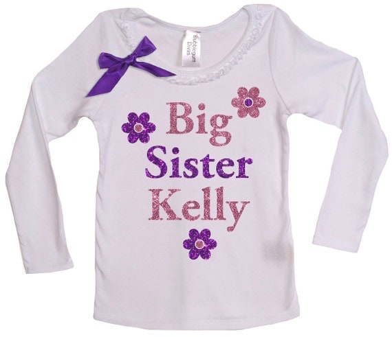 Big Sister Personalized Shirt Big Sister Gift Big Sister