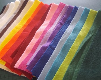 Craft Felt Scrap Bag - 200g Pack - Assorted Colours x 21 - Mini Project Children Kids Crafts