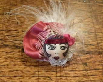 1920's Flapper Button