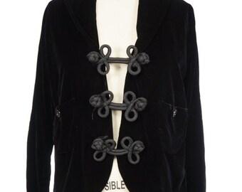 Vintage Sale 1950s Black Velvet Jacket / 50s Jacket
