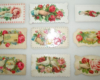 Antique Victorian Die Cut Calling Cards