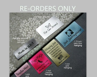 60 HANGING or FLAT Sew Around Labels for Returning Customers Only, TagsToGo