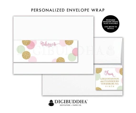 envelope wrap labels envelope wrap address label sticker wrap around