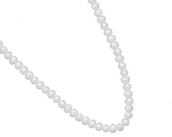 15 inch + 2 inch Extension Small 4mm White Cultured Freshwater Pearl Necklace