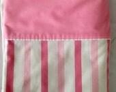 Vintage Cannon Monticello No Iron Pink Stripe Full Double Flat Sheet