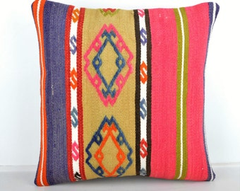 Kilim pillow cover, kp1451, Kilim Pillow, Turkish Pillow, Kilim Cushions, Kilim, Moroccan Pillow, Bohemian Pillow, Turkish Kilim