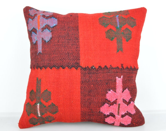 Kilim pillow, Kilim Pillow Cover k447, Turkish Pillow, Kilim Cushions, Bohemian Decor, Moroccan Pillow,  Bohemian Pillow, Turkish Kilim