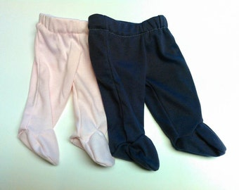 Set of 2 Footed Newborn Pants
