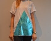 Oversized metallic printed t-shirt