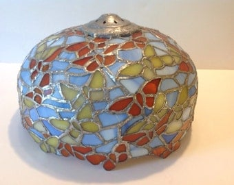 Hand made Stained Glass Lamp shade c 1960s, Never Used,