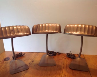 3 General Lamps, Desk Lamps for you to rewire, Project lamps, Vintage desk lamps