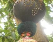 RESERVED FOR AKOSUA  CoconuT Lantern, Romantic Lighting, Folkart Decoration, Boho lantern