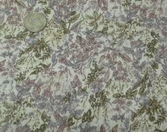 "Hoffman International Fabrics, ""Garden Mist"", Lavander Purple, Avocado"